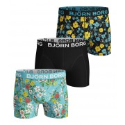 Bjorn Borg Boxershort 3-Pack Blossom&Spring / Black Beauty - Size: Small