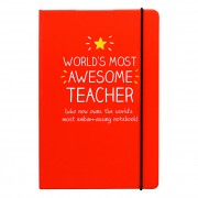 Happy Jackson World's Most Awesome Teacher A5 Notebook