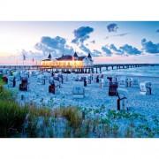 Puzzle Seara la plaja, 500 piese, RAVENSBURGER Puzzle Adulti