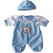 Set costumas cu caciulita Blue Miniland, 21 cm