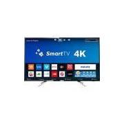 Smart TV LED 50 Philips 50PUG6102/78 UHD 4K com Conversor Digital 4 HDMI 2 USB Wi-fi 60hz - Preta