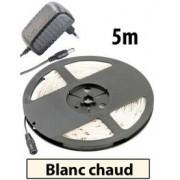 Lunartec Bande à LED pour extérieur, 5 m, avec prise secteur - Blanc chaud