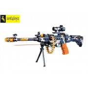 "Zest 4 Toyz 25"" Musical Army Style Toy Gun for Kids with Music, Lights and Laser Light"