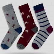 Pánske ponožky John Frank JF3LSEF04 - 3PACK