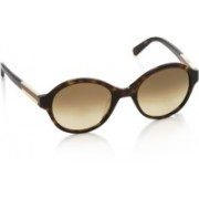 Calvin Klein Round Sunglasses(Brown)