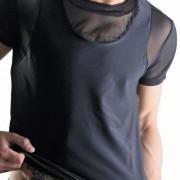 Lookme Midnight Sheer Insert Short Sleeved T Shirt 6981