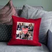 YourSurprise Moederdagkussen - 40 x 40 cm - Rood - Gevuld
