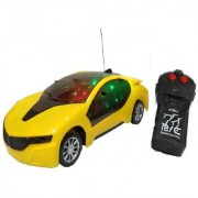 New Pinch Remote Control 3D lighting Effect Racing Car With 2 Functions (Forward Backward) For Kids (multicolor)