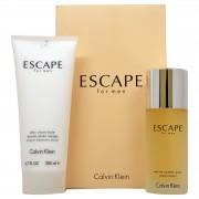 Calvin Klein Escape Apa de Toaleta 100 ml + After Shave Balsam 200 ml Set BARBATESC
