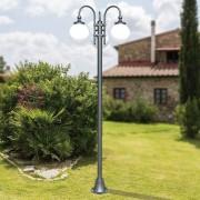 LIBERTI LAMP linea GARDEN Antares Lampione Classico Per Esterno Giardino Antracite Con Sfere Globo D.25