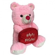 Ultra Happy Birthday Teddy Soft Toy 15 Inches - Pink
