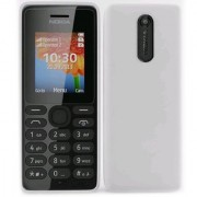 Nokia 108 Dual Sim White Mobile With Battery Charger.