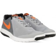 Nike FLEX EXPERIENCE Running Shoes For Men(Grey, Orange, Black)
