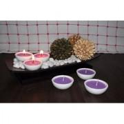 Hosley Set of 6 Highly Scented Lavender Fields Ceramic Diyas