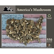 Puzzles That Rock America's Mushroom, 550 Piece Puzzle Made in The USA