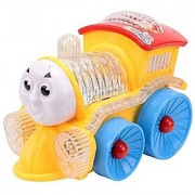 Jojoss Musical Funny Loco Train Engine with flashing Led Lights Multi-color