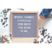 """London Exchain Store £8.99 instead of £39.99 (from London Exchainstore) for a 10 x 10"""" peg board with 180 letters - save 78%"""