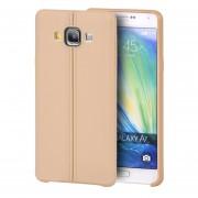 Funda Case para Samsung Galaxy A7 de Plastico tipo TPU Flexible -Gold