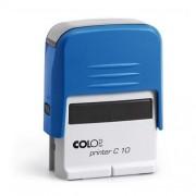 Szövegbélyegző Printer C10 kék ház kék párnával 10x27 mm