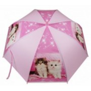 Deštník dětský holový vystřelovací kočka růžový 9149-10 9149-10