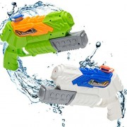 Biubee 2 Packs Water Guns for Kids and Adults - Super Soaker Squirt Blast up to 20ft, Great Toy Pistols for Target Games Hot Summer