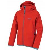 Husky Zally Kids 122-128, červená Dětská softshellová bunda