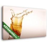Whisky csobbanás (40x25 cm, Vászonkép )