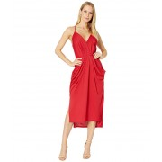 BCBGeneration Cocktail Drapey Pocket Knit Dress American Red