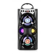 Hordozható hangszóró Bluetooth multimédia lejátszó akkumulátorral LED hangszóróval Mp3,FM-Rádió, 3,5 jack, USB, Micro SD kártya - MS-261BT