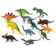 Dinosaur Toys Playsets Small Plastic Assorted Dinosaurs 12 Piece Set Perfect for Toddlers & Preschoolers 3-5