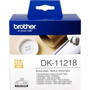 Brother DK-11218 Etiquetas circulares 24mm blanco 1000 etiq/rollo