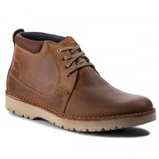 Обувки CLARKS - Vargo Mid 261366717 Dark Tan Leather
