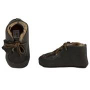 XQ Little Shoes Baby schoentjes grijs, leer en wol gevoerd.
