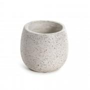 Kave Home Vaso Braydon branco , en Pedra / Cerámica - Branco
