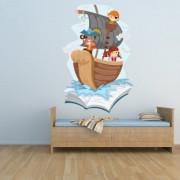 stickers folies Stickers bateau pirate