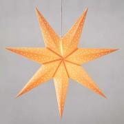 Clara star for hanging, velvet look Ø 75 cm orange