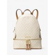MK Rhea Medium Logo Backpack - Vanilla - Michael Kors