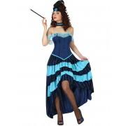 Disfarce de cabaret anos 20 azul mulher - XL