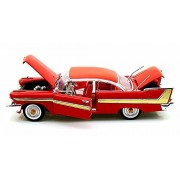 1958 Plymouth Fury, Red - Motormax 73115 - 1/18 scale Diecast Model Toy Car