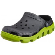 Crocs Unisex Duet Sport Clog Graphite and Volt Green Rubber Clogs and Mules - M8/W10