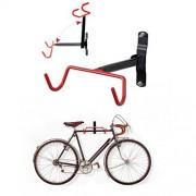 HOMEE Soporte de pared para bicicleta, soporte de pared, soporte para bicicleta, sistema de almacenamiento para cochera y cobertizo
