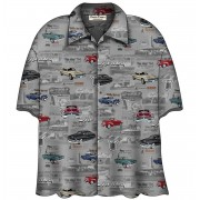 Cars Shirt Mercury Vintage Camp Shirt Grijs
