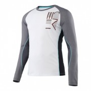 Head Transition M T4S LS tennisshirt heren wit/grijs mt S