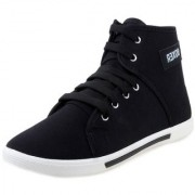 ShoetoeZ BOXER Mens High Ankle Black Canvas boots Multi Activity sneakers Size 7 - 10. Proudly Made in India!