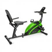 KLARFIT Relaxbike 6.0 SE Ergomètre couché volant d'inertie 12 kg - noir & vert