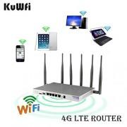 KuWFi Desbloqueado 4G LTE Router WiFi para Coche, B1/B3/B5/B7/B8/B20 EU Version 1200Mbps Dual Band