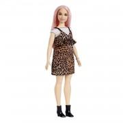 Barbie Fashionista - Muñeca con pelo rosa y vestido de leopardo