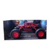 IndusBay Remote Controlled Rock Through Crawler 1:18 Scale 4Wd Monster Truck - Off Roader Racer Rally Car Red (Superman Theme)