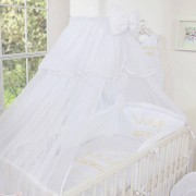 My Sweet Baby 3-Delig Bedset Little Princess Voile Wit