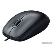 Mouse, LOGITECH M100, USB, Dark Gray (910-001604)